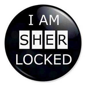 I-Am-Sherlocked-25mm-1-034-Pin-Badge-Button-Watson-Cumberbatch-Sherlock-Holmes
