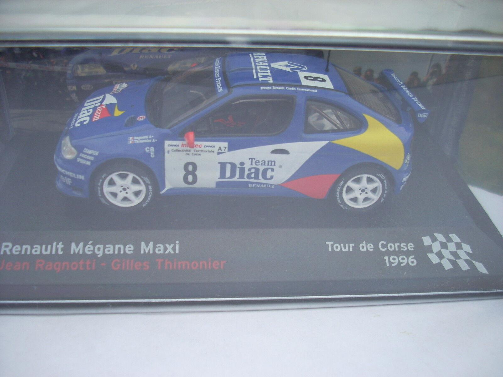 RENAULT MEGANE MAXI MAXI MAXI TOUR DE CORSE 1996 J.RAGNOTTI G.THIMONIER scala 1\43 6ac1aa
