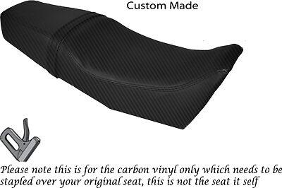 CARBON FIBRE VINYL CUSTOM FITS YAMAHA SRX 250 DUAL SEAT COVER ONLY