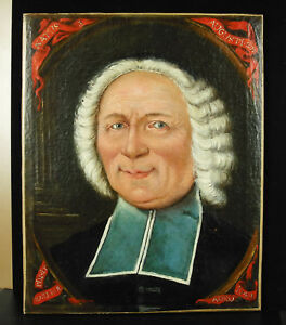 1740-Oil-on-Canvas-Signed-Bailleul-Portrait-A-Man-Law-Newborn-The-3-August-1677