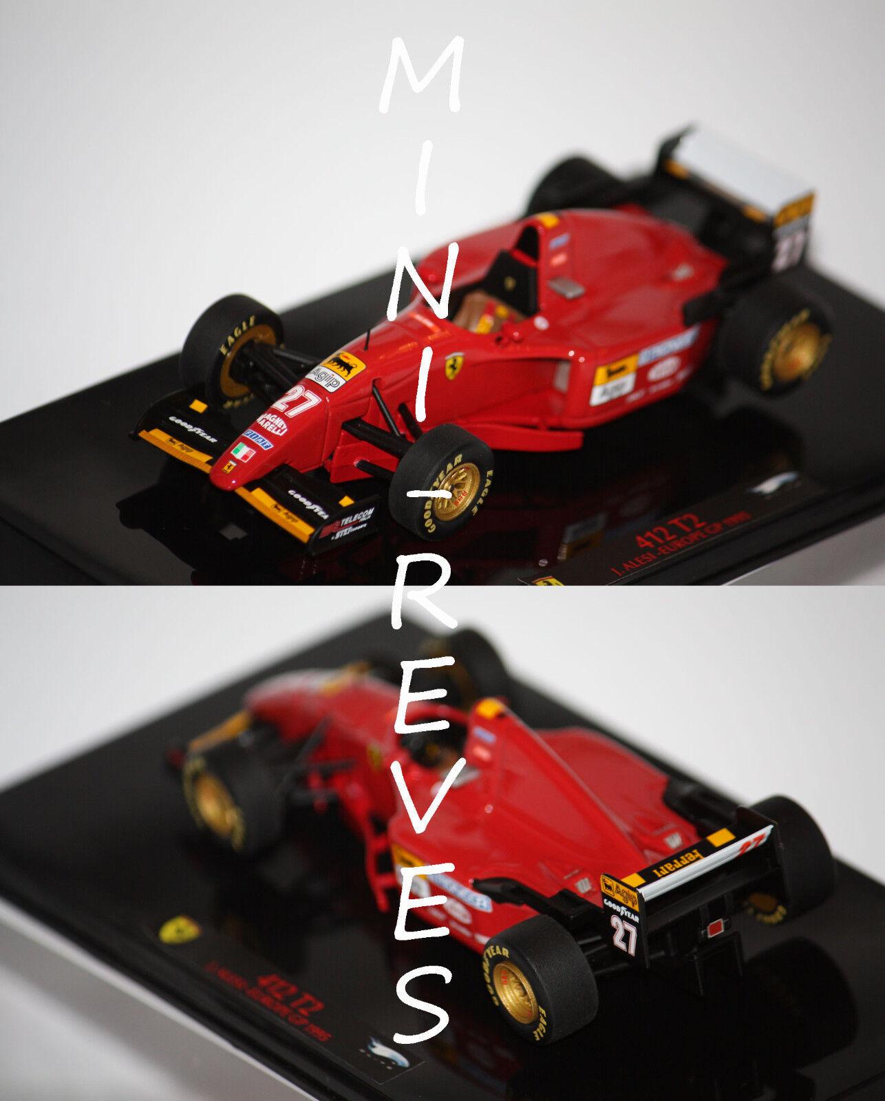 Hotwheels Elite F1 Ferrari 412 T2 J. Alesi 1995 1 43 T6286