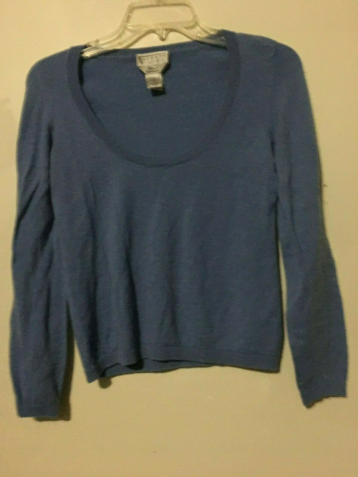 Talbots 100% Pure Cashmere bluee Sweater Size M Women Top