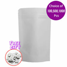 475x775in White Kraft Paper Stand Up Zip Lock Bag For Cookies Withdesiccant K02