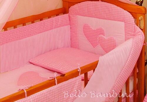 120 // 60 cm 6P beddingsetwith tutto PARAURTI PER CULLA Letto 100/% COTONE! 140 // 70