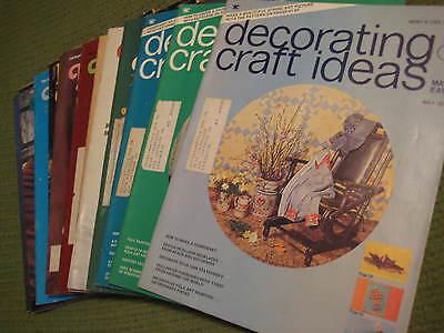 Vintage Decorating /& Craft Ideas Made Easy Magazine December 1974