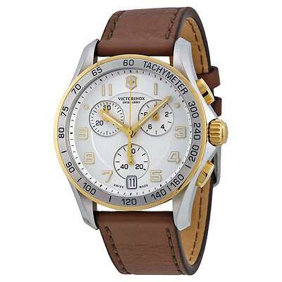 Victorinox Swiss Army Classic Chronograph Silver Dial Mens Watch 241510