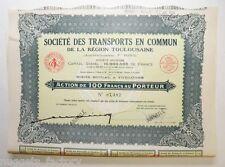 Action ancienne: Sté des transports en commun de Toulouse F.Pons ( 403 )
