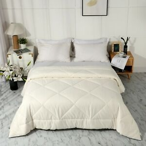LEISURELY COLLECTION Premium 100/% Natural Colored Cotton Quilted Comforter