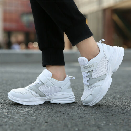 Kids Sneakers Outdoor Sport Shoes Boys Casual Girl Fashion Mesh Breathable White