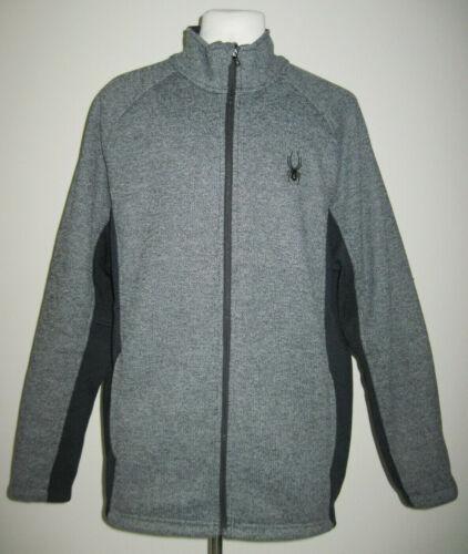 Spyder Foremost Men's Jacket Knit Full Zip Gray &