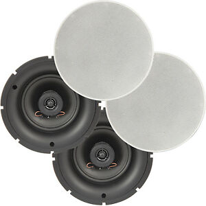 Details Zu 4 Pack Pro 6 5 80w Low Profile Ceiling Speakers 2 Way Wall Mount Slim Line