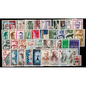 Timbres-de-France-annee-complete-1959-neufs
