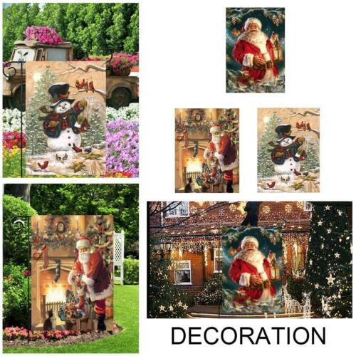 30*45cm Courtyard Garden Flag Outdoor Xmas Home Print Z6W3 Decor B9H6 Banne G3Q5