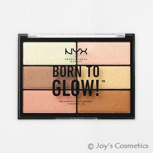 """1 Nyx Born To Glow Iluminador Paleta-Silky Tonos """" Btghp01"""" Joy's Cosméticos"""