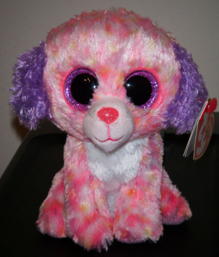 """Ty Beanie Boos - LONDON the 6"""" Dog ~ Claire's Exclusive ~ 2015 NEW ~ IN HAND"""