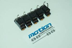 5 Omron PYF14A ice Cube Relay Sockets / DIN Rail Mounting / 5 Amps