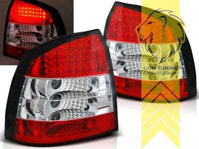 Rückleuchten Heckleuchten für Opel Astra G CC Fließheck weiss chrom