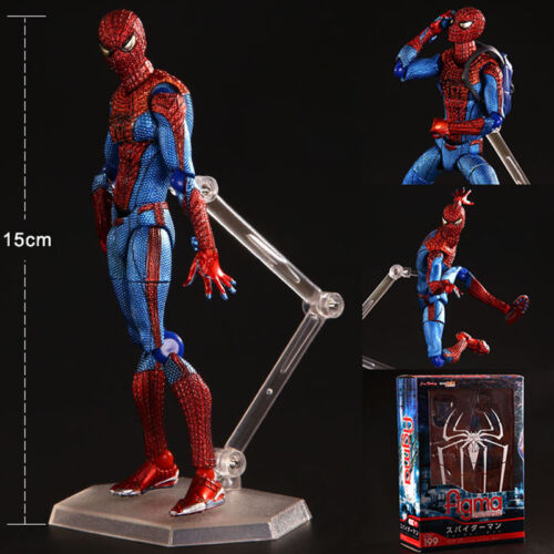 1pc Spider Man The Amazing Spiderman Figure Action Figure Toy-Full joint movable