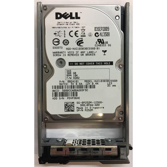 """Dell 300GB, 10K RPM, SAS w/ tray 2.5"""" - P252M"""