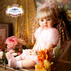 Reborn-Toddler-Baby-doll-Girl-22-039-039-Soft-Vinyl-Newborn-Realistic-Lifelike-gifts