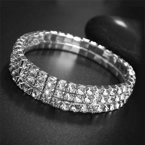 Stretchy Fußkettchen Kette Elegant Geschenk Diamante Silber Formal Zubehör