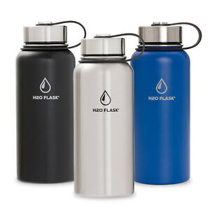 H2O-Flask-Insulated-Water-Bottle-with-Straw-Stainless-Steel-Wide-Mouth-32oz-40oz