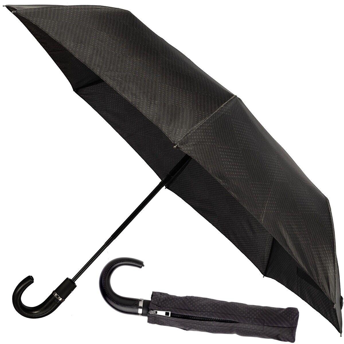 CERRUTI 1881 Herren Regenschirm Hakengriff Taschenschirm Automatik Schirm Neu