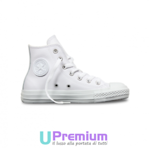 converse all star bianche di pelle