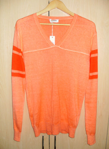 { Diesel Kebello Maglione VNeck Knit Orange Small }
