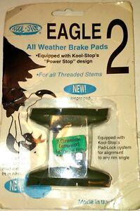 Threaded Eagle 2 All Weather Bike Brake Shoes Brake Pads Green Ceramic