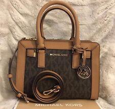 Michael Kors PVC Dillon Top Zip Small Satchel Bag in Brown/acorn ...