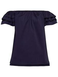 cd910d6da685d Image is loading Ted-Baker-JAID-Frill-Detail-Bardot-Top-Navy-