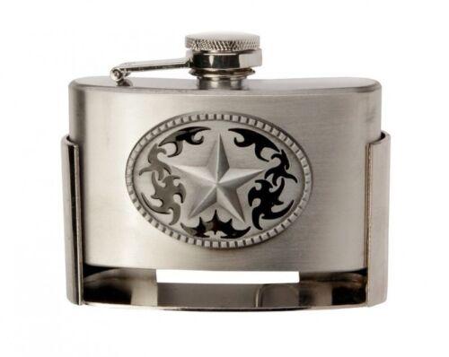 Boucle de Ceinture Buckle Avec Poches Flacon Flasque Lone Star Texas Western Flask