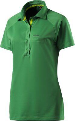 Details zu Salewa Damen Poloshirt Alpina Dry Polo 5950 assenzio W SS Größe 42 grün neu