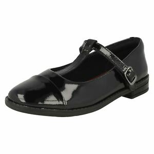 Girls Bar Drew Clarks T Negro School Zapatos Shine H4wqwfxO
