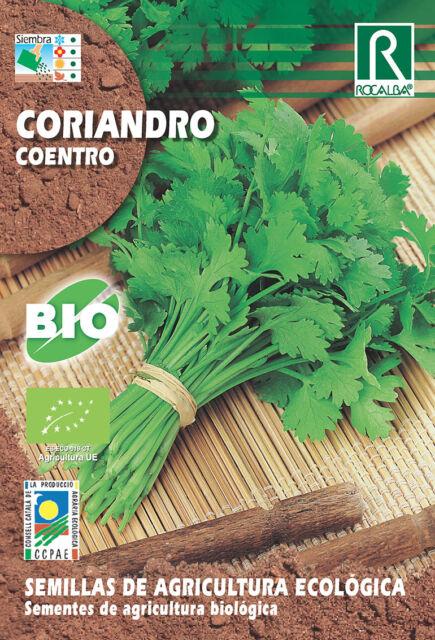 Semillas ECOLOGICAS Coriandro Cilantro , Sobre 10 gr.