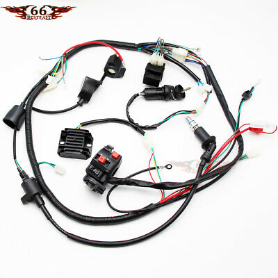 go kart gy6 wiring harness full electrics wiring harness cdi coil solenoid gy6 150cc atv quad  cdi coil solenoid gy6 150cc atv quad