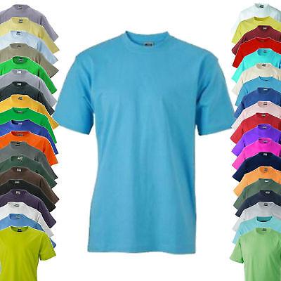 James /& Nicholson T-Shirt ROUND-T MEDIUM Rundhals Kurzarm S M L XL XXL JN001