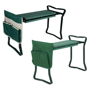 Foldable-Kneeler-Garden-Kneeling-Bench-Stool-Soft-Cushion-Seat-Pad-w-Tool-Pouch