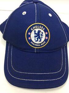c20a91f4d46 Chelsea Football Club Hat Cap Blue Cotton Adjustable English Soccer ...