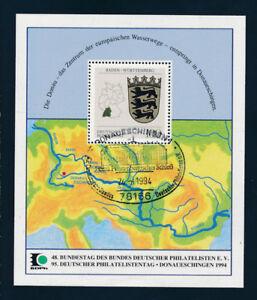 Gedenkbaltt-1994-Donaueschingen-49-Bundestag-des-Bundes-deutscher-Philat-GB2