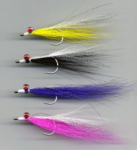 Size 1//0 All tied in the UK Code 479 x 4 Salt Water Flies: Clouser Minnows