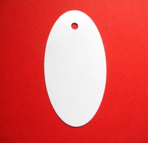 30 Grandes Oval Etiquetas De Regalo Precio Etiquetas Blanco
