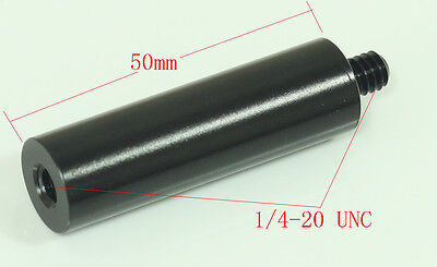 "Diameter 15mm 2""length micro rod with 1/4"" male and 1/4""female for clamp mount"