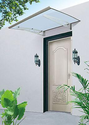 Heimwerker Gastfreundlich Vordach Vd09 Polycarbonat Aluminiumhalter 1200 X 1000 Mm Attraktive Mode Vordächer