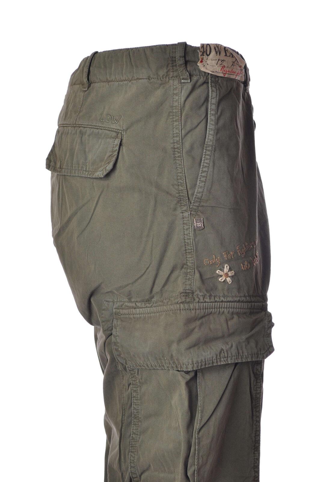 40 Weft  -  Pantaloni - men - green - 3544323A180325