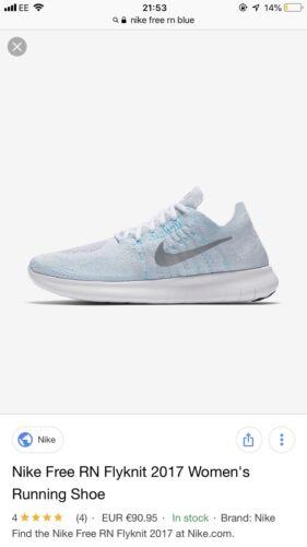 Run 95 Rn Entrenadores Nike Caja Para Free En Mujeres Correr Flyknit £ 5 Rrp Uk Tw5acfaq