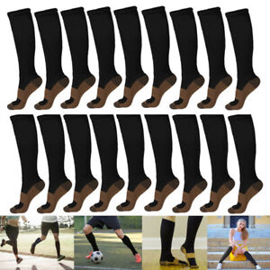 Copper-Infused-Compression-Socks-20-30mmHg-Graduated-Mens-Womens-S-XL
