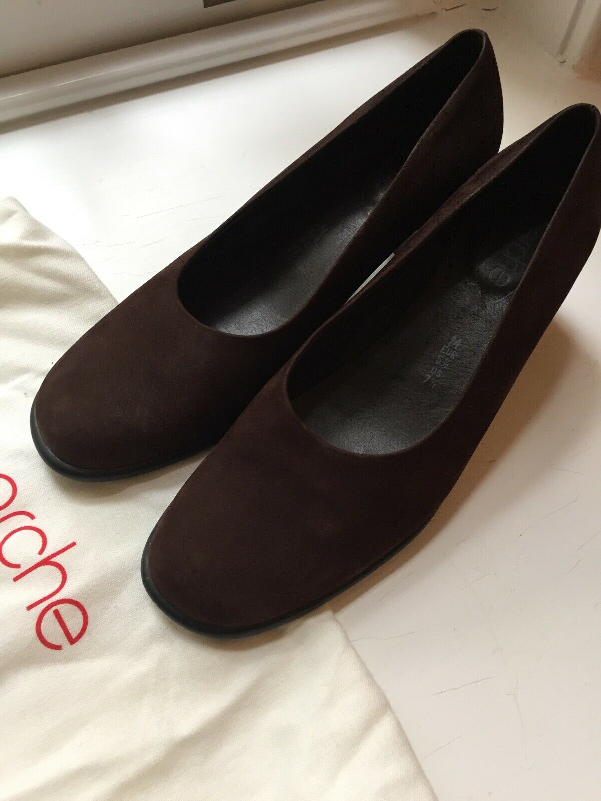 Arche women shoes 37 7.5 brown suede heels France worn once
