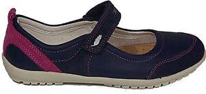 sale retailer f262e b7220 Details zu GEOX Schuhe Halbschuhe Spangenschuhe Klettverschluß J Vega D  Echt Leder Blau NEU